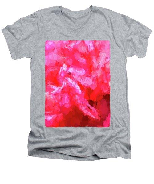 Pink Petals Men's V-Neck T-Shirt by Jackie VanO
