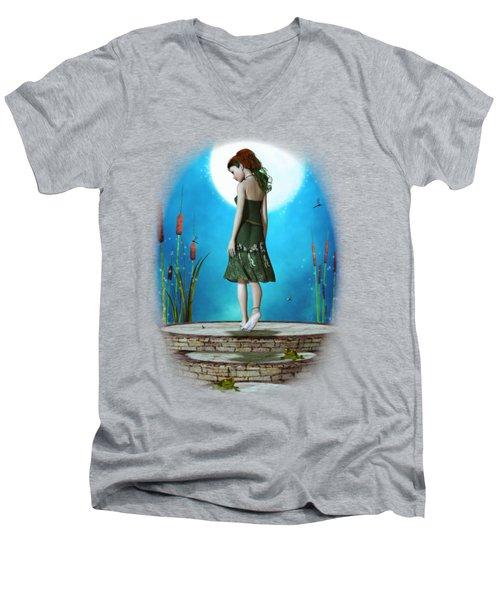 Pond Of Dreams Men's V-Neck T-Shirt by Brandy Thomas
