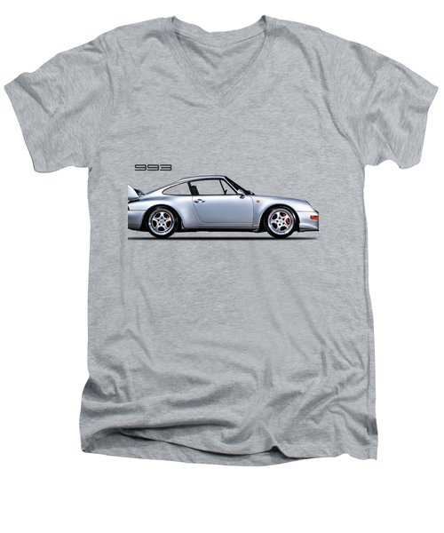 Porsche 993 Men's V-Neck T-Shirt by Mark Rogan