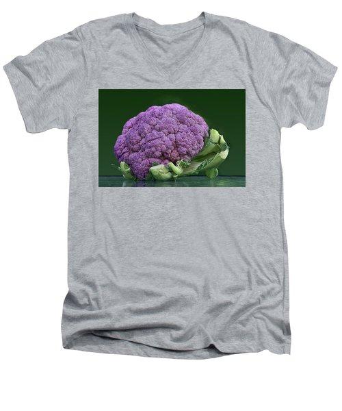 Purple Cauliflower Men's V-Neck T-Shirt by Nikolyn McDonald
