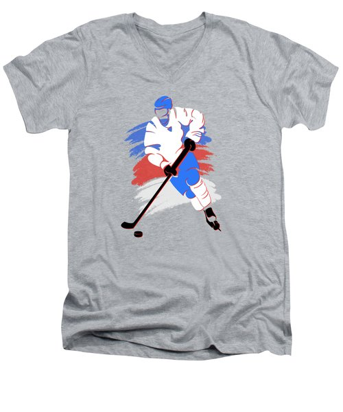Quebec Nordiques Player Shirt Men's V-Neck T-Shirt by Joe Hamilton