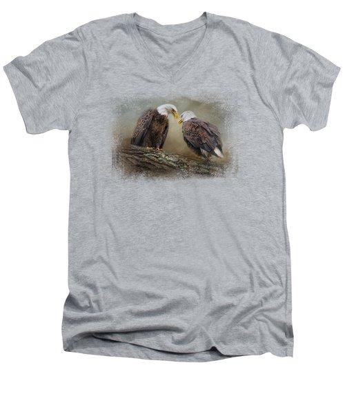 Quiet Conversation Men's V-Neck T-Shirt by Jai Johnson