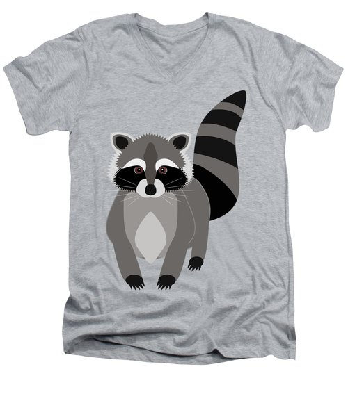 Raccoon Mischief Men's V-Neck T-Shirt by Antique Images
