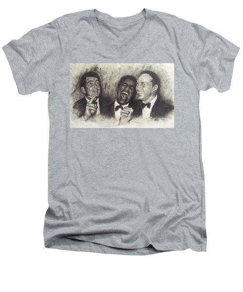 Rat Pack Men's V-Neck T-Shirt by Cynthia Campbell