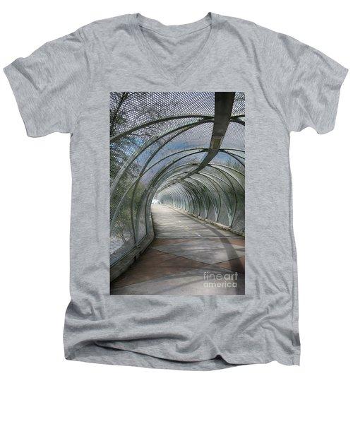 Rattlesnake Bridge 2 Men's V-Neck T-Shirt by Teresa Zieba