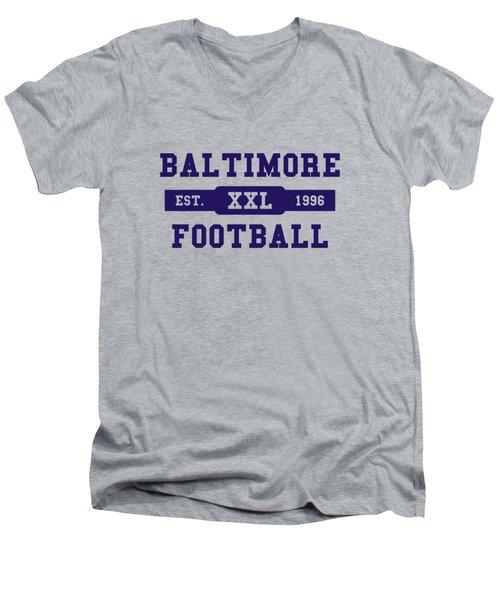 Ravens Retro Shirt Men's V-Neck T-Shirt by Joe Hamilton