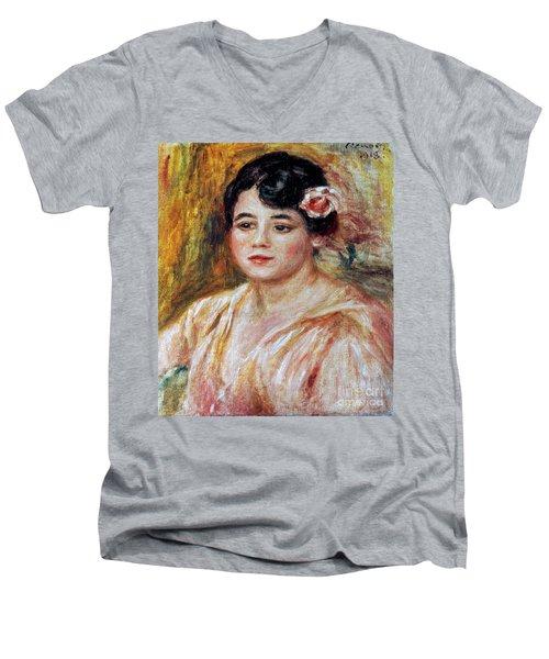 Renoir: Adele Besson, 1918 Men's V-Neck T-Shirt by Granger