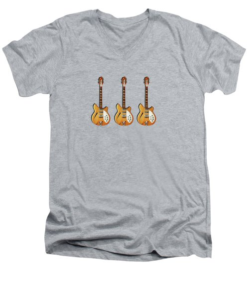 Rickenbacker 360 12 1964 Men's V-Neck T-Shirt by Mark Rogan