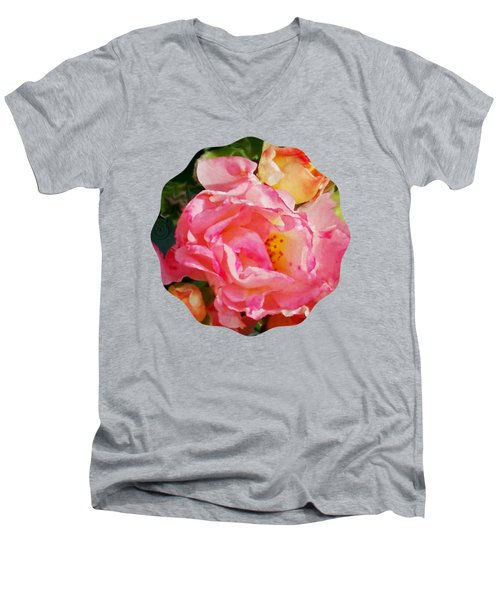 Roses Men's V-Neck T-Shirt by Anita Faye