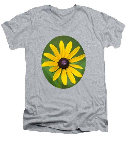 Rudbeckia Flower Men's V-Neck T-Shirt by Christina Rollo
