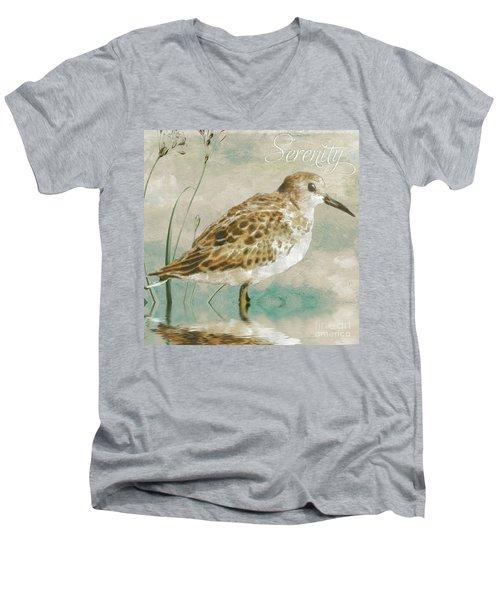 Sandpiper I Men's V-Neck T-Shirt by Mindy Sommers