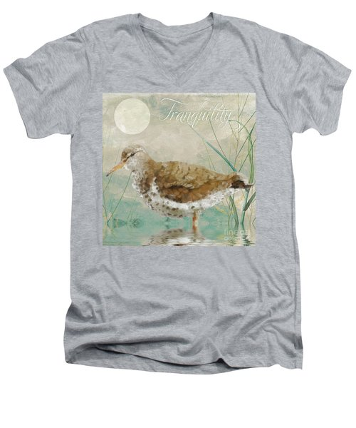 Sandpiper II Men's V-Neck T-Shirt by Mindy Sommers