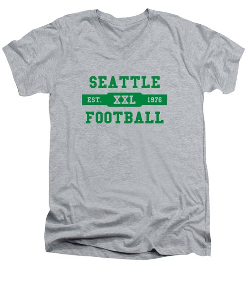 Seahawks Retro Shirt Men's V-Neck T-Shirt by Joe Hamilton