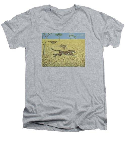 Sheer Speed Men's V-Neck T-Shirt by Pat Scott