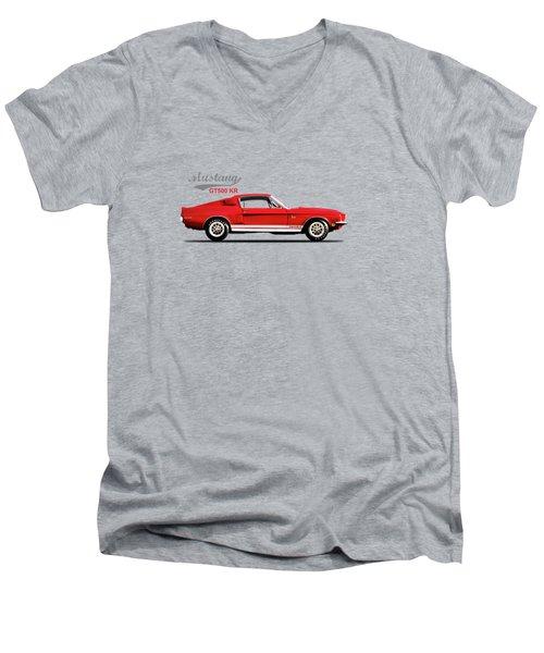Shelby Mustang Gt500 Kr 1968 Men's V-Neck T-Shirt by Mark Rogan