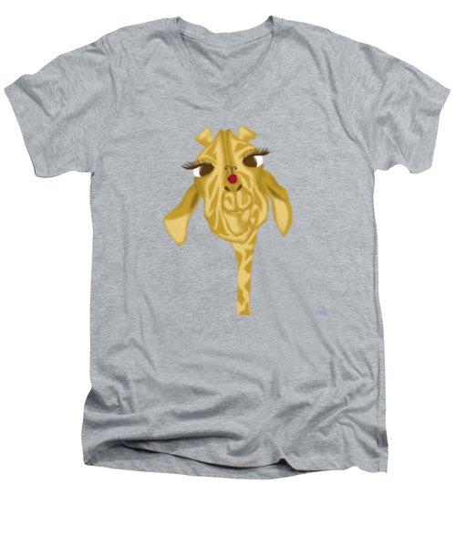 Sherbet And Her Visitor Men's V-Neck T-Shirt by Michelle Brenmark