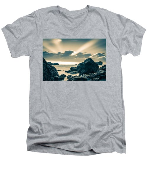 Men's V-Neck T-Shirt featuring the photograph Silver Moment by Thierry Bouriat