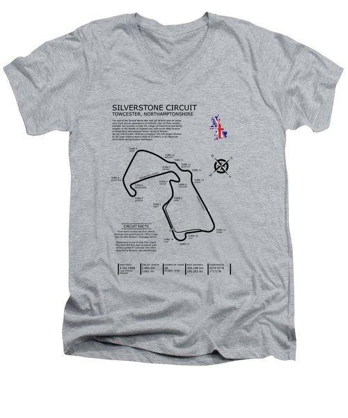 Silverstone Circuit Men's V-Neck T-Shirt by Mark Rogan
