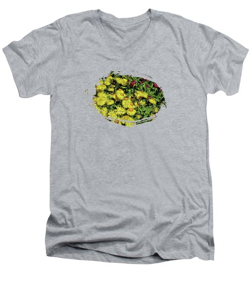 Smiling Daisies Men's V-Neck T-Shirt by Thom Zehrfeld