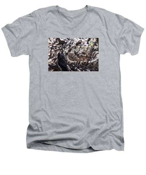 Snake In The Shadows Men's V-Neck T-Shirt by Chuck Brown