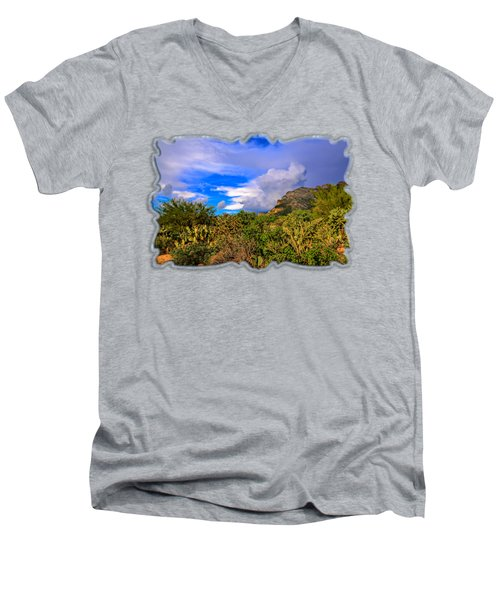 Sonoran Afternoon H11 Men's V-Neck T-Shirt by Mark Myhaver