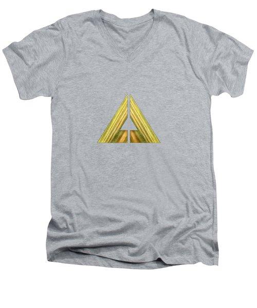 Split Triangle Green Men's V-Neck T-Shirt by YoPedro