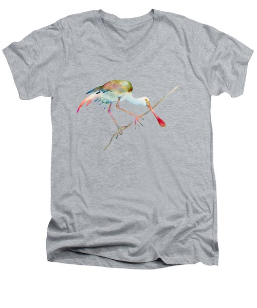 Spoonbill  Men's V-Neck T-Shirt by Amy Kirkpatrick