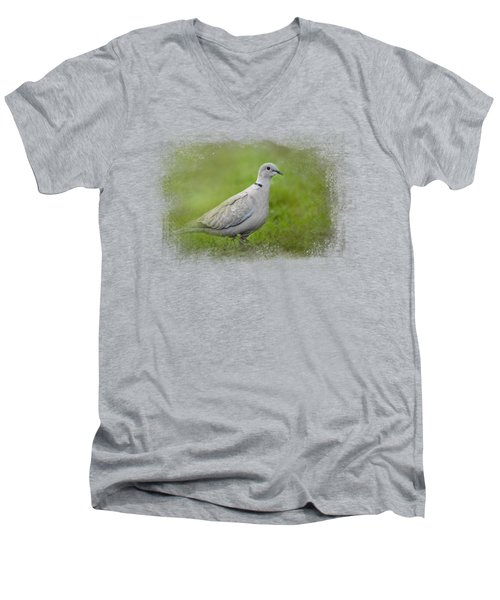 Spring Dove Men's V-Neck T-Shirt by Jai Johnson