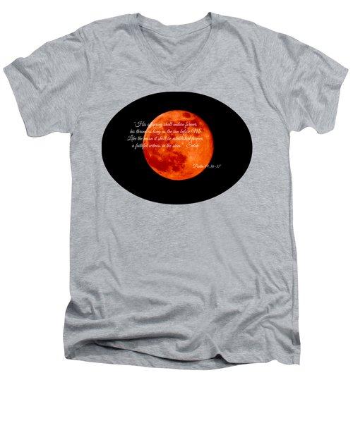 Strawberry Moon Men's V-Neck T-Shirt by Anita Faye