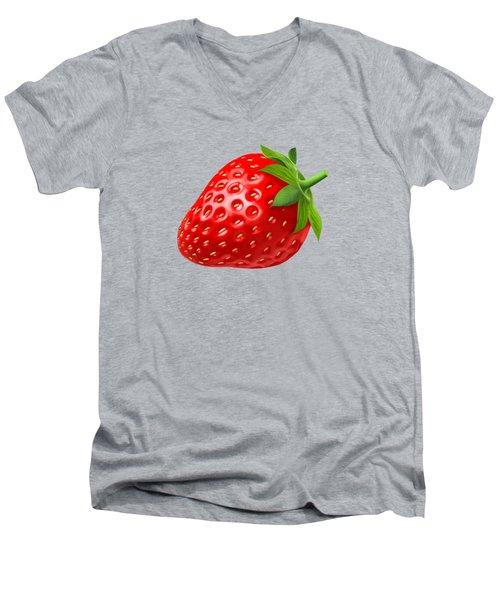 Strawberry Men's V-Neck T-Shirt by T Shirts R Us -