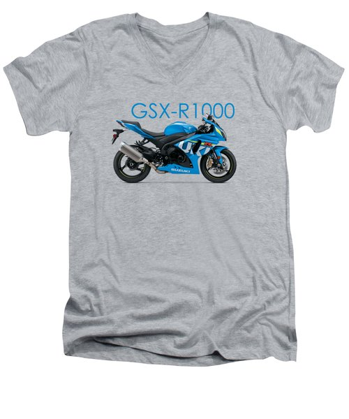 Suzuki Gsx R1000 Men's V-Neck T-Shirt by Mark Rogan