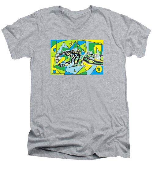 Swift Men's V-Neck T-Shirt by AR Teeter