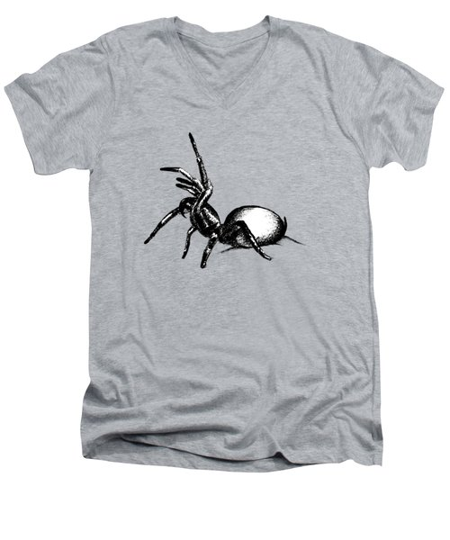Sydney Funnel Web Men's V-Neck T-Shirt by Nicholas Ely