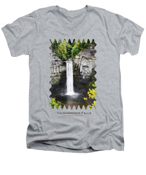 Taughannock Falls View From The Top Men's V-Neck T-Shirt by Christina Rollo