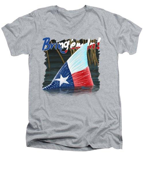 Texas Tails Men's V-Neck T-Shirt by Kevin Putman