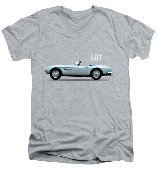 The Bmw 507 Men's V-Neck T-Shirt by Mark Rogan