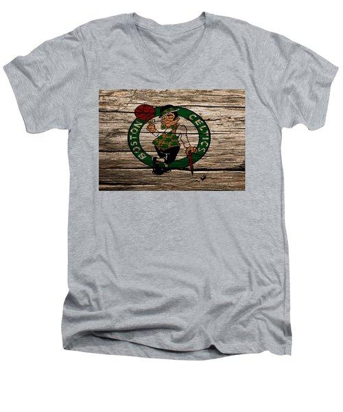 The Boston Celtics W1 Men's V-Neck T-Shirt by Brian Reaves