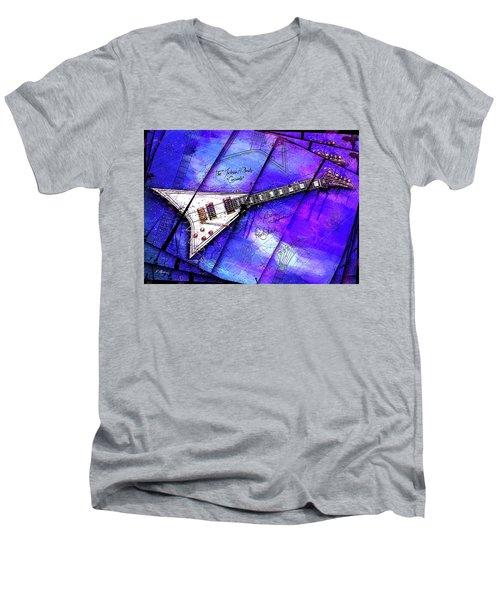 The Concorde On Blue Men's V-Neck T-Shirt by Gary Bodnar