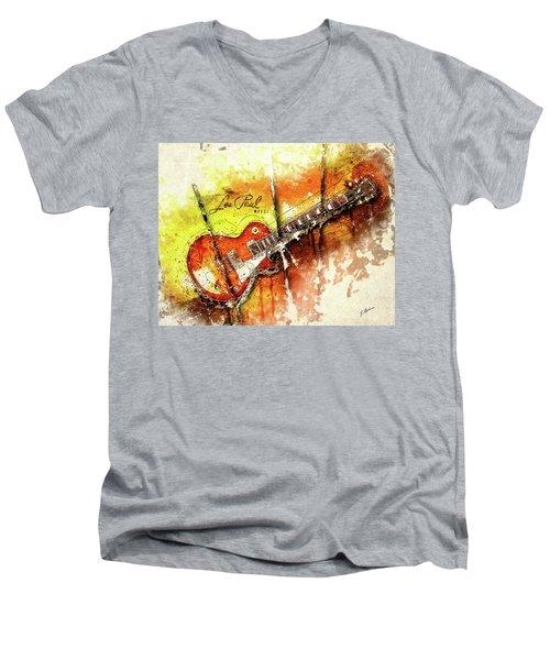 The Holy Grail V2 Men's V-Neck T-Shirt by Gary Bodnar