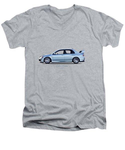 The Lancer Evolution Viii Men's V-Neck T-Shirt by Mark Rogan