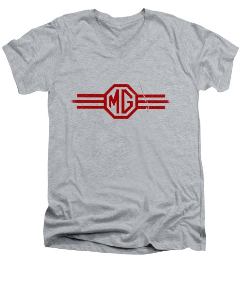 The Mg Sign Men's V-Neck T-Shirt by Mark Rogan