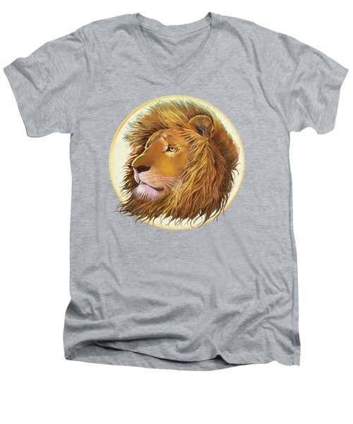 The One True King - Color Men's V-Neck T-Shirt by J L Meadows