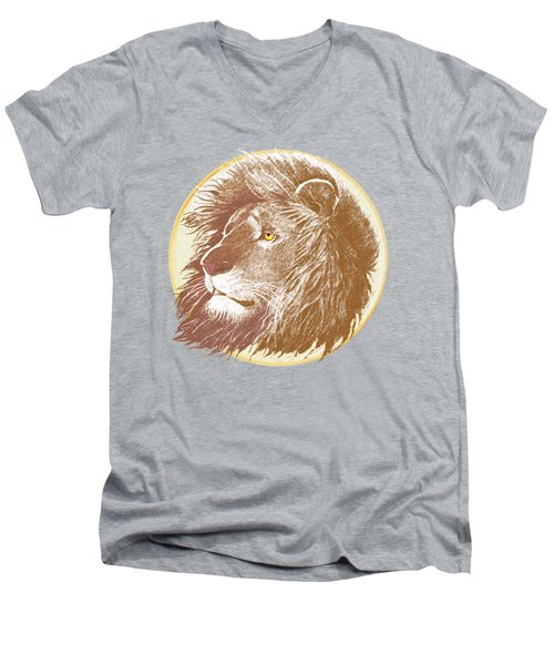 The One True King Men's V-Neck T-Shirt by J L Meadows