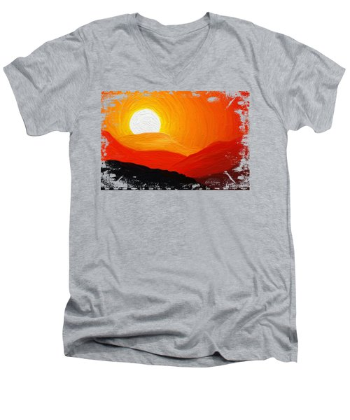 The Painted Desert Signature Series Men's V-Neck T-Shirt by Di Designs