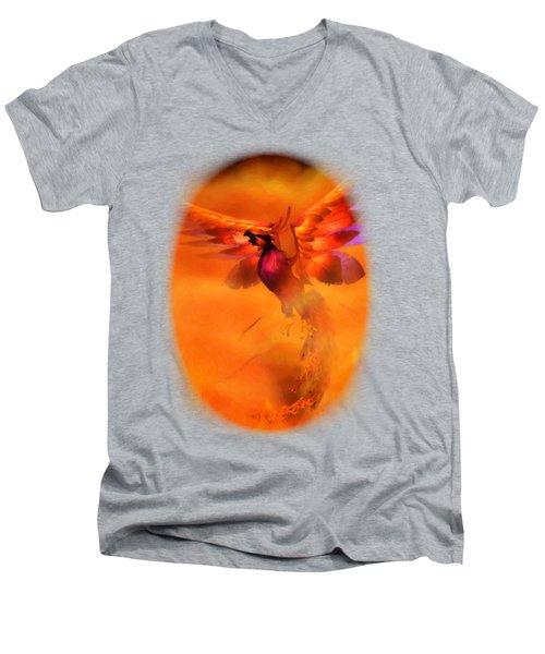 The Phoenix Men's V-Neck T-Shirt by Brandy Thomas