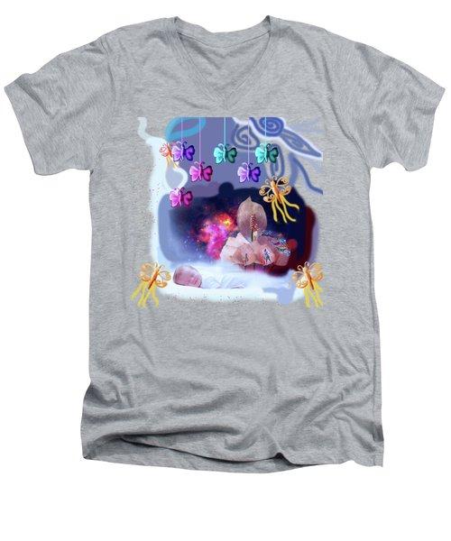 The Real Little Baby Dream Men's V-Neck T-Shirt by Artist Nandika  Dutt
