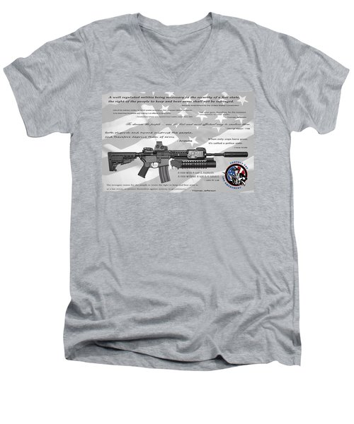 The Right To Bear Arms Men's V-Neck T-Shirt by Daniel Hagerman