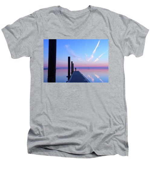 Men's V-Neck T-Shirt featuring the photograph The Silent Man by Thierry Bouriat