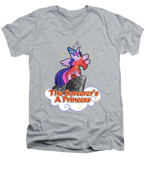 The Sorcerer's A Princess Men's V-Neck T-Shirt by J L Meadows