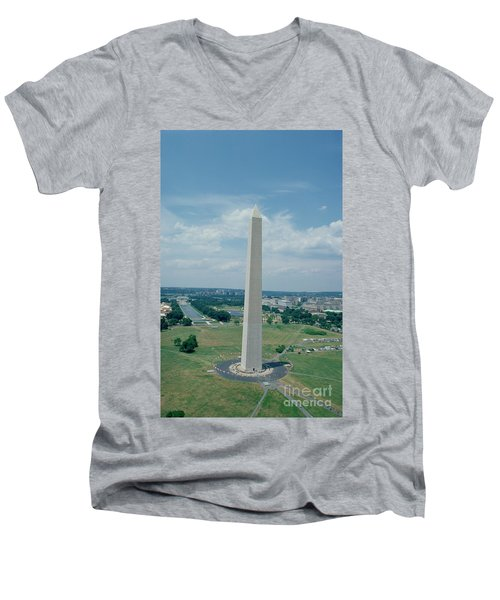 The Washington Monument Men's V-Neck T-Shirt by American School